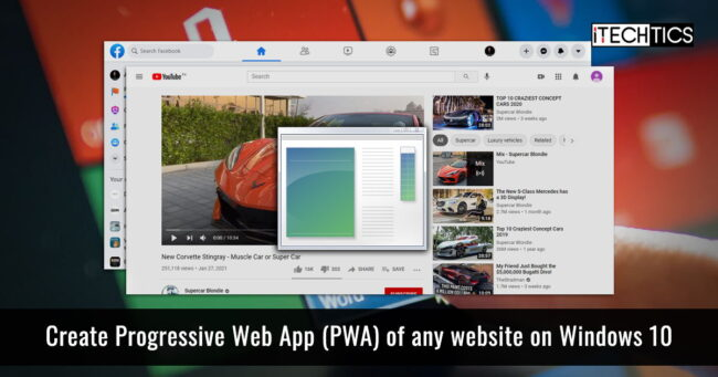 Create Progressive Web App PWA of any website on Windows 10
