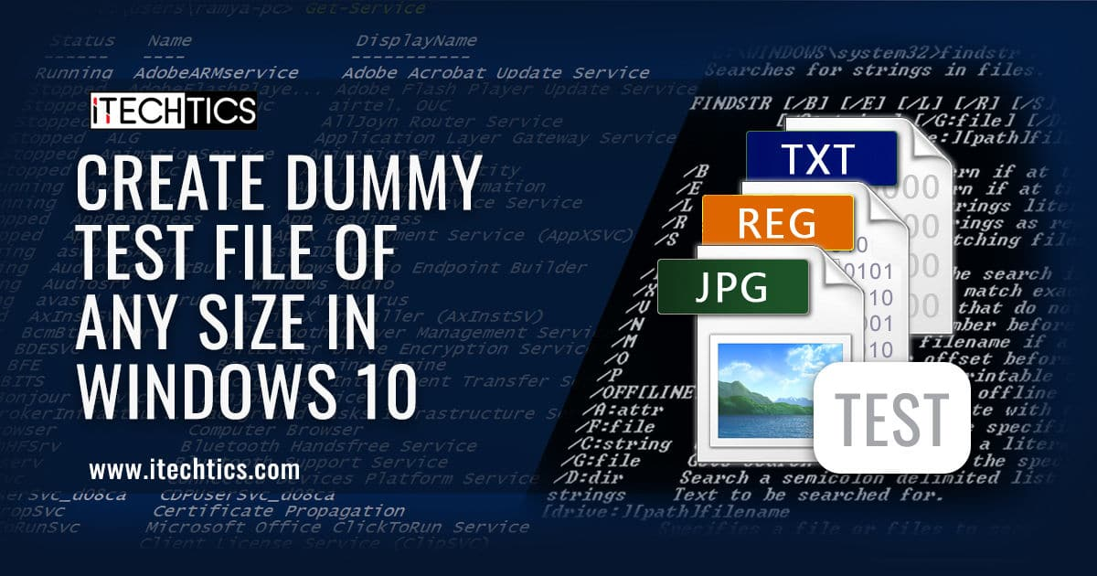 3 Ways to Create Dummy Test File of Any Size in Windows 10