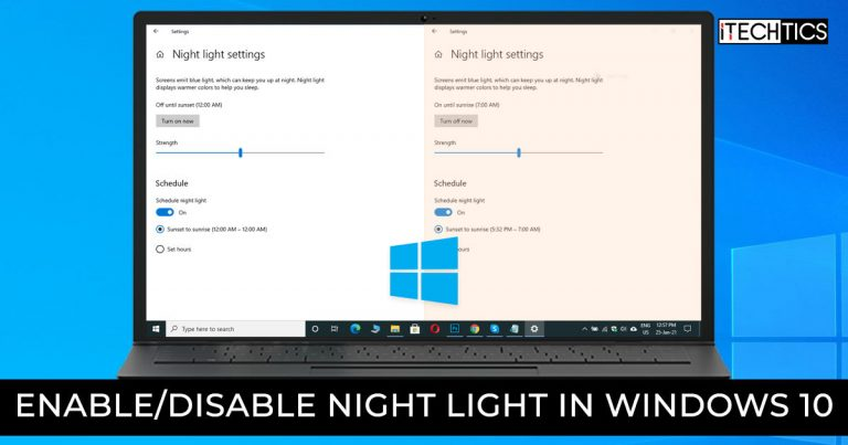 Enable Disable Night Light in Windows 10 1