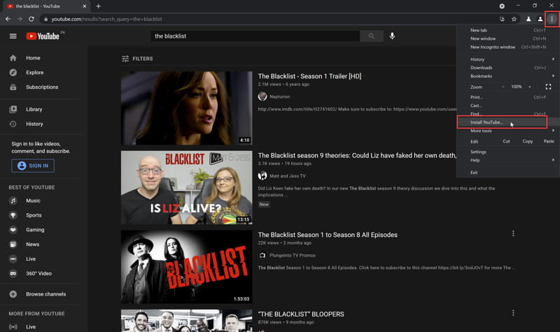 Download and Install YouTube App On Windows 10 3