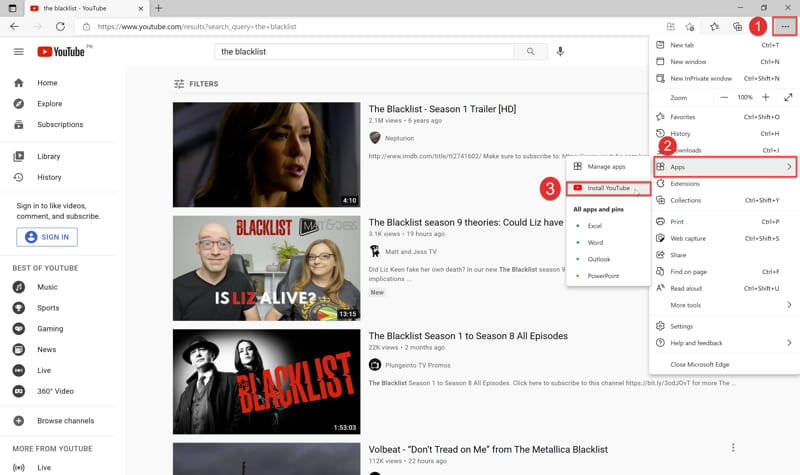 Download and Install YouTube App On Windows 10 1