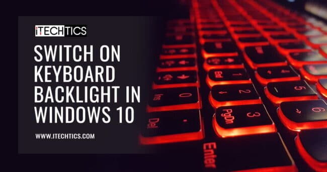 Switch on keyboard backlight in Windows 10