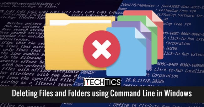 Deleting Files and Folders using Command Line in Windows