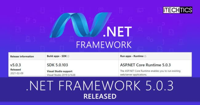 NET Framework 5 0 3 Released