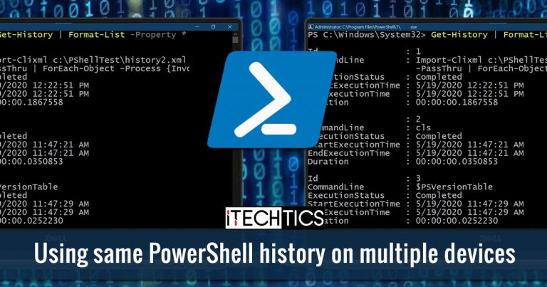Using same PowerShell history on multiple devices