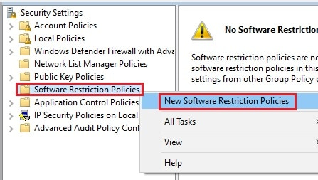 secpol new software restriction