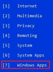 select windows apps
