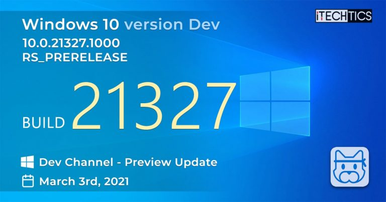Windows 10 Insider Preview Build 21327