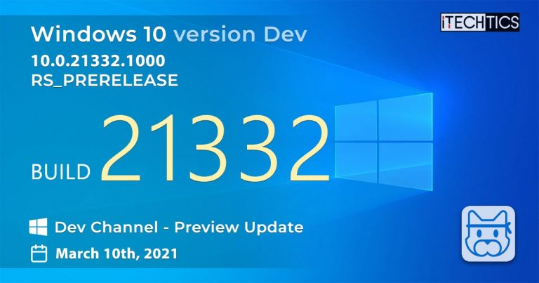 Windows 10 Insider Preview Build 21332