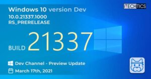 Windows 10 Insider Preview Build 21337