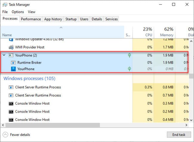 task manager processes