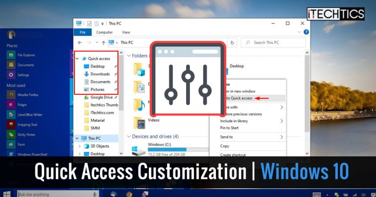 How To Customize Quick Access In Windows 10 (Navigation Pane And Toolbar) 5