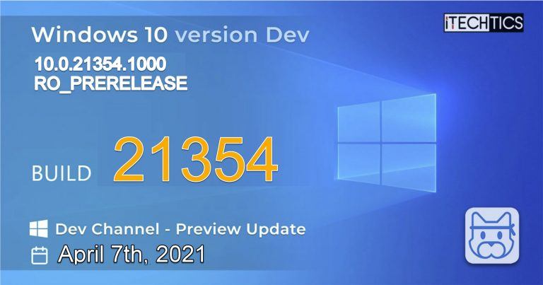 Windows 10 Insider Preview Build 21354
