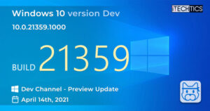 Windows 10 Insider Preview Build 21359