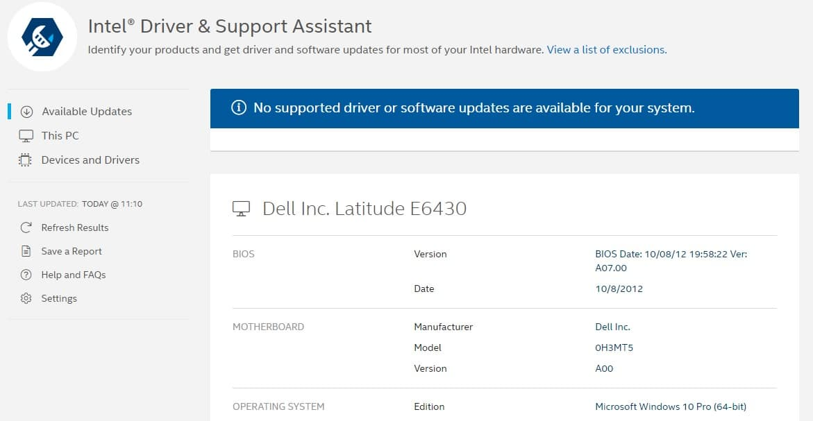 intel support assistant final