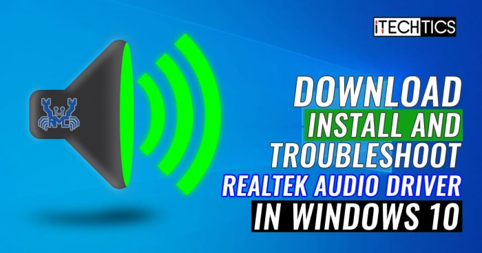 How to Download and Install Realtek HD Audio Manager And Driver for Windows 10 2