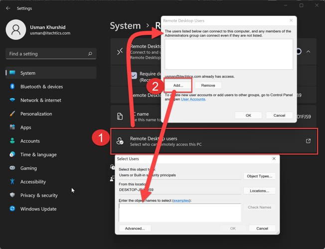 How To Enable Remote Desktop Connection RDC In Windows 11 1