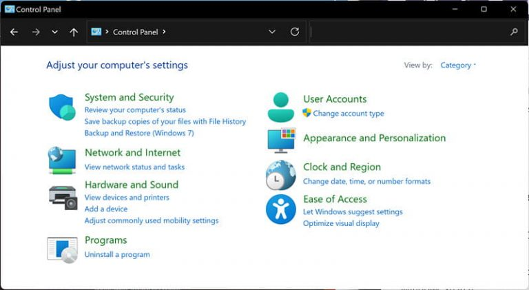 Where Is the Control Panel in Windows 11? 17