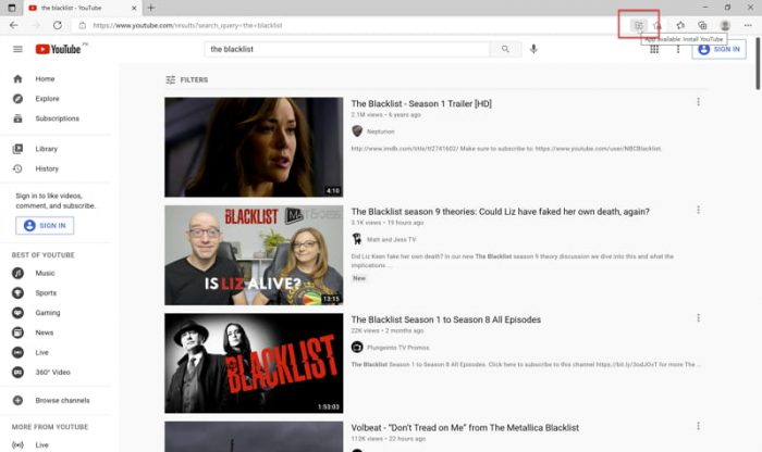Download and Install YouTube App On Windows 10 2