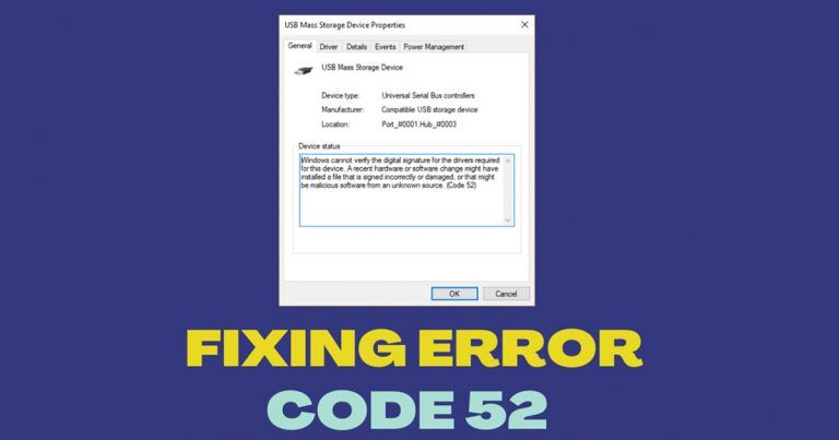 Fix Code 52 Error Unable to Verify the Digital Signature of Drivers in Windows 10/11 1