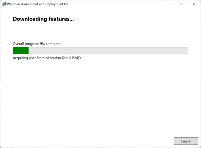Downloading ADK features