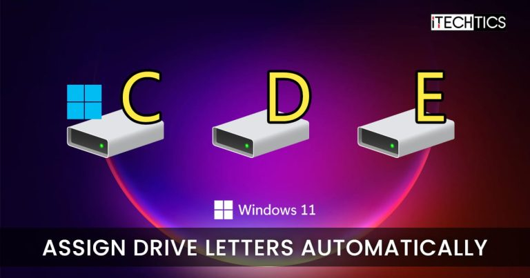 Assign Drive Letters Automatically Fix Windows 11