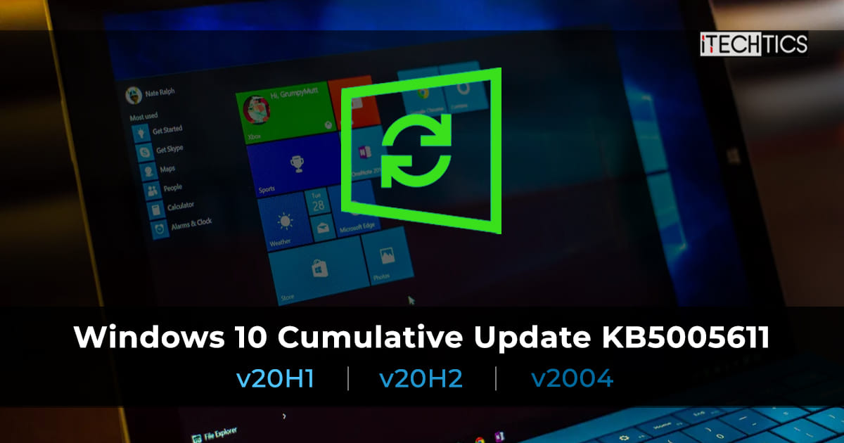 Download Windows 10 KB5005611 Cumulative Update Stable Channel Release